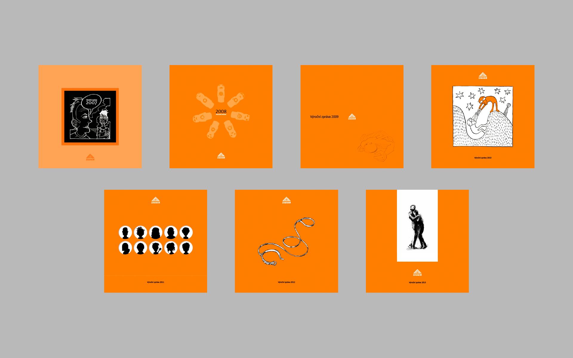 2007-2013-Sananim-Vyrocni-zpravy-Covers